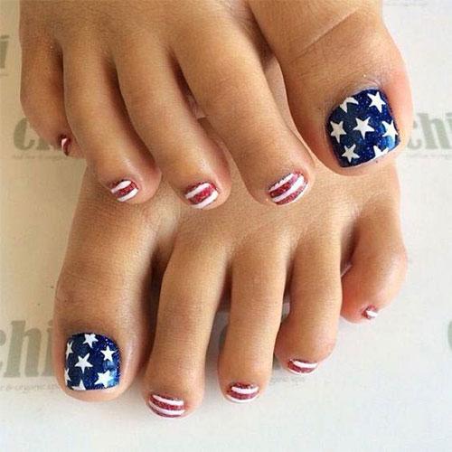 4th-of-July-Toe-Nails-Art-Designs-2020-4