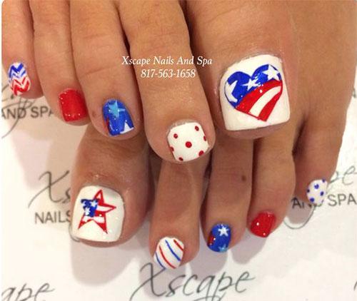 4th-of-July-Toe-Nails-Art-Designs-2020-9