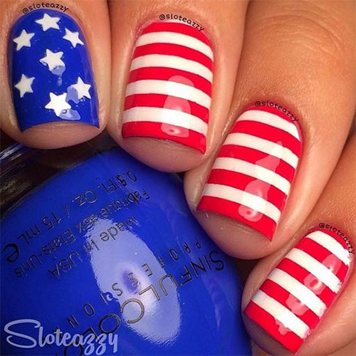 American-Flag-Nail-Art-Ideas-2020-4th-of-July-Nails-1