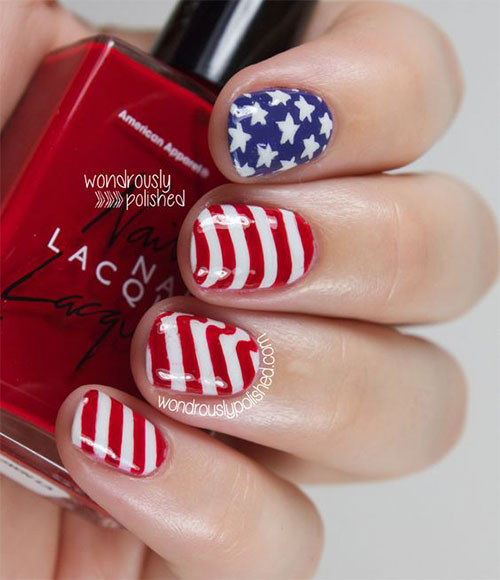 American-Flag-Nail-Art-Ideas-2020-4th-of-July-Nails-10