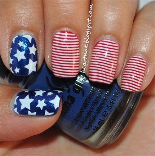 American-Flag-Nail-Art-Ideas-2020-4th-of-July-Nails-12