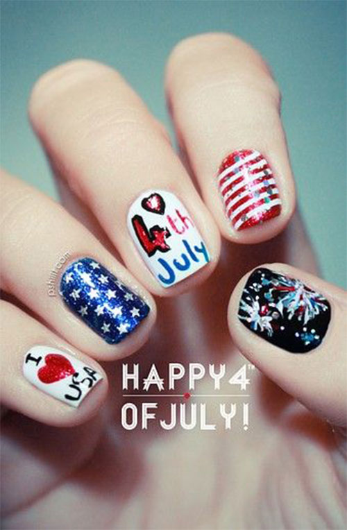 American-Flag-Nail-Art-Ideas-2020-4th-of-July-Nails-14