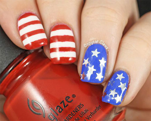 American-Flag-Nail-Art-Ideas-2020-4th-of-July-Nails-4