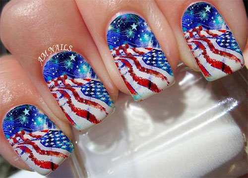 American-Flag-Nail-Art-Ideas-2020-4th-of-July-Nails-7