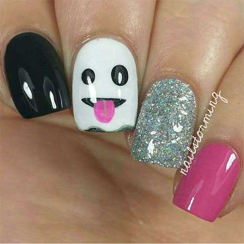 Easy-Simple-Halloween-Nail-Art-For-Beginners-2020-8