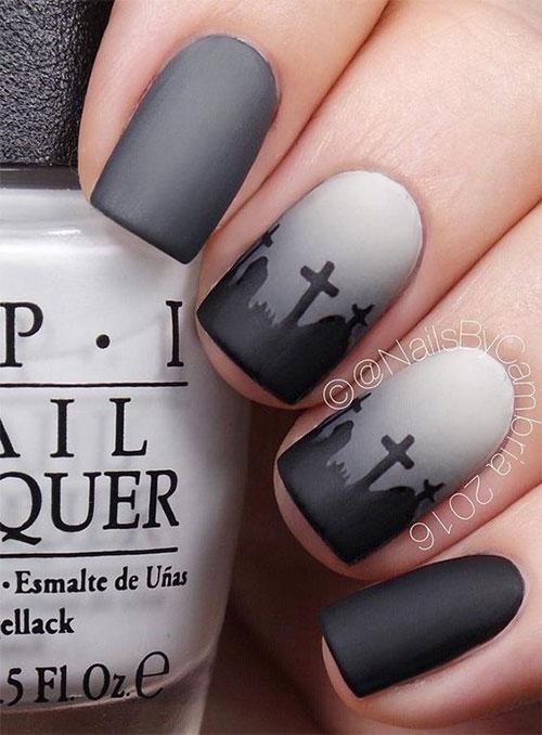 Easy-Simple-Halloween-Nail-Art-For-Beginners-2020-9