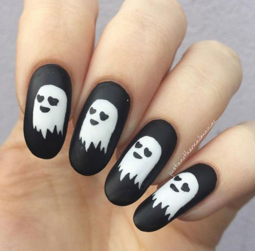 Halloween-Ghost-Nail-Art-Ideas-2020-Ghost-Nails-1