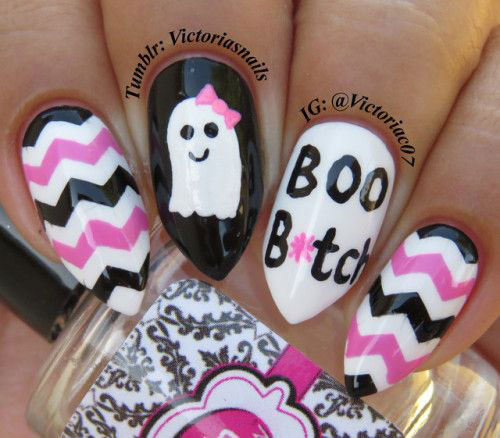 Halloween-Ghost-Nail-Art-Ideas-2020-Ghost-Nails-2