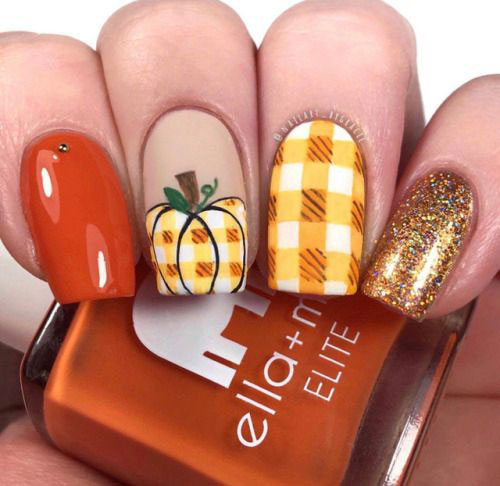 Halloween Pumpkin Face Nail Art Designs 2020 | Pumpkin Nails | Fabulous Nail Art Designs