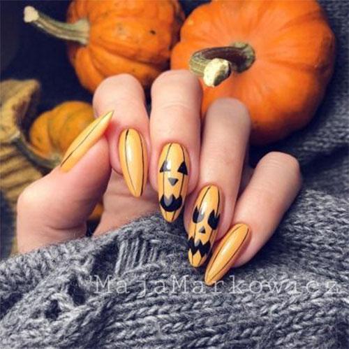 Halloween-Pumpkin-Face-Nail-Art-Designs-2020-Pumpkin-Nails-14