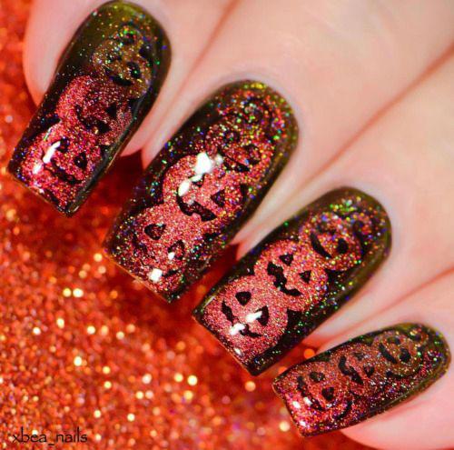Halloween-Pumpkin-Face-Nail-Art-Designs-2020-Pumpkin-Nails-16