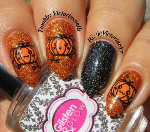 Halloween-Pumpkin-Face-Nail-Art-Designs-2020-Pumpkin-Nails-3