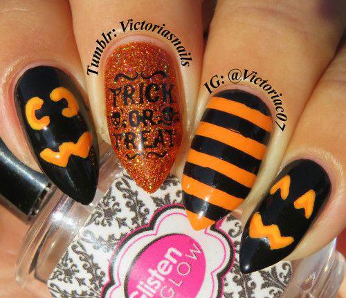 Halloween-Pumpkin-Face-Nail-Art-Designs-2020-Pumpkin-Nails-9