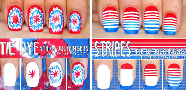 Step By Step 4th of July Nails Tutorials For Beginners 2020