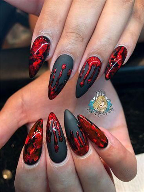15-Scary-3d-Halloween-Nail-Art-Ideas-2020-10