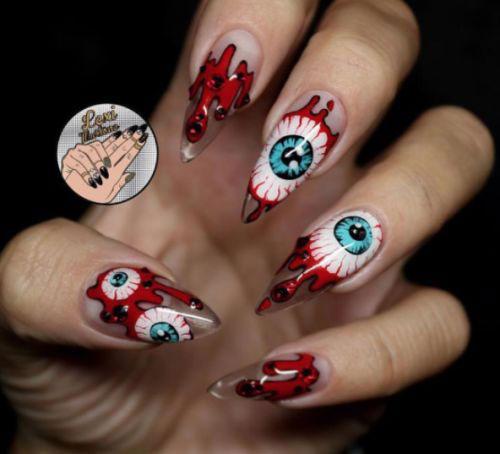 15-Scary-3d-Halloween-Nail-Art-Ideas-2020-13