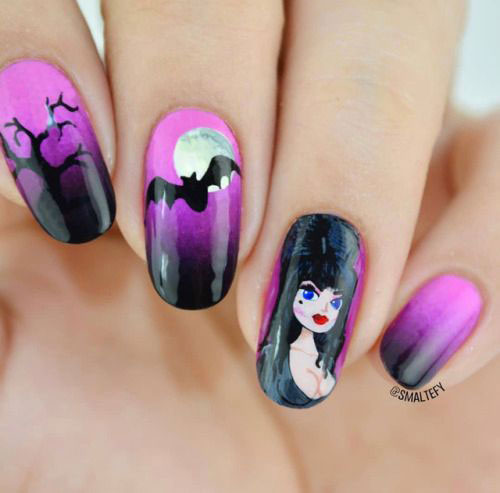 20-Halloween-Spooky-Bat-Nail-Art-Ideas-2020-4