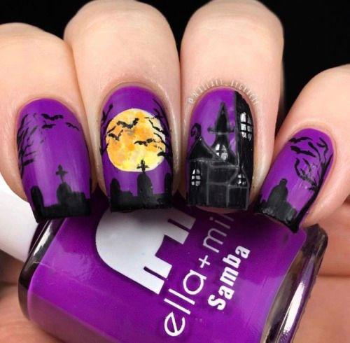 20-Halloween-Spooky-Bat-Nail-Art-Ideas-2020-9