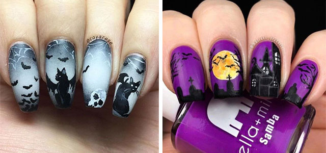 20-Halloween-Spooky-Bat-Nail-Art-Ideas-2020-F