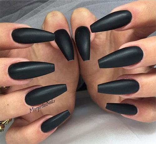 Black-Halloween-Coffin-Nail-Art-Designs-2020-11