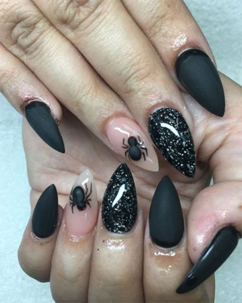 Black-Halloween-Coffin-Nail-Art-Designs-2020-12