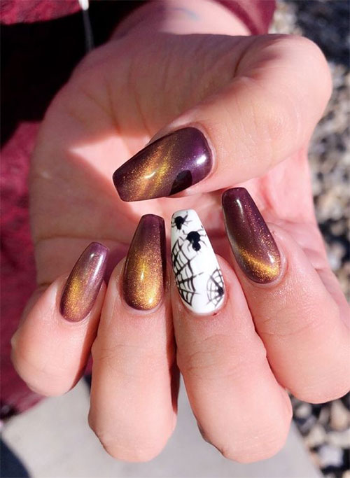 Black-Halloween-Coffin-Nail-Art-Designs-2020-13