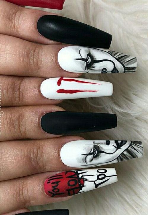 Black-Halloween-Coffin-Nail-Art-Designs-2020-15