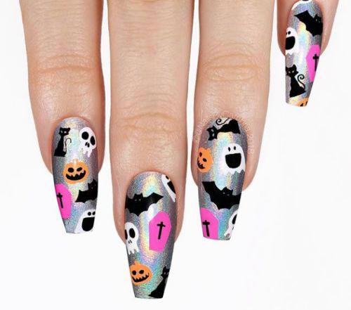 Black-Halloween-Coffin-Nail-Art-Designs-2020-3