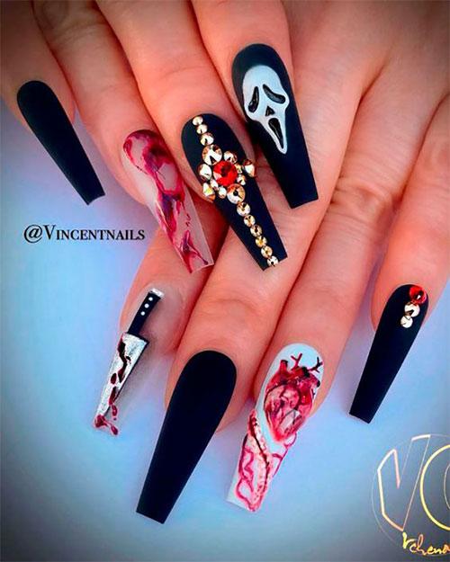 Black-Halloween-Coffin-Nail-Art-Designs-2020-5