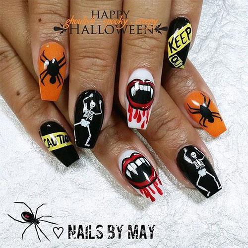 Black-Halloween-Coffin-Nail-Art-Designs-2020-6