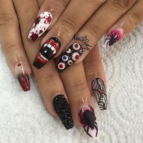 Black-Halloween-Coffin-Nail-Art-Designs-2020-7