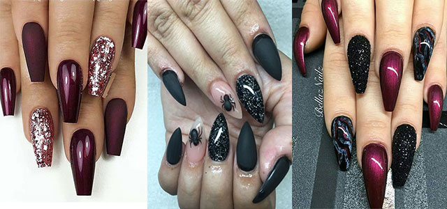 Black-Halloween-Coffin-Nail-Art-Designs-2020-F