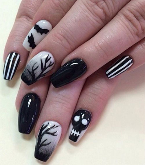 Creepy-Scary-Halloween-Nail-Art-2020-10