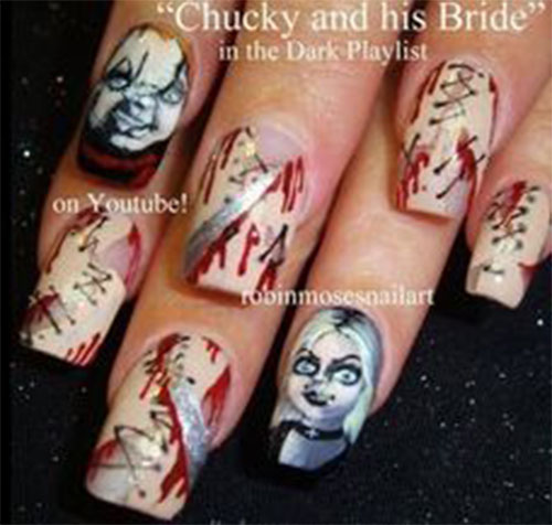 Creepy-Scary-Halloween-Nail-Art-2020-9