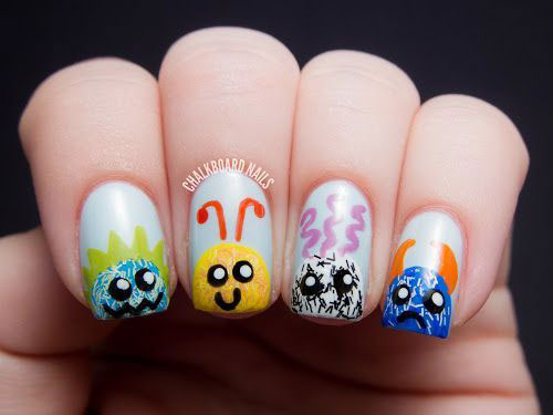 Cute-Easy-Halloween-Nail-Art-For-Kids-2020-3
