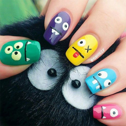 Cute-Easy-Halloween-Nail-Art-For-Kids-2020-4