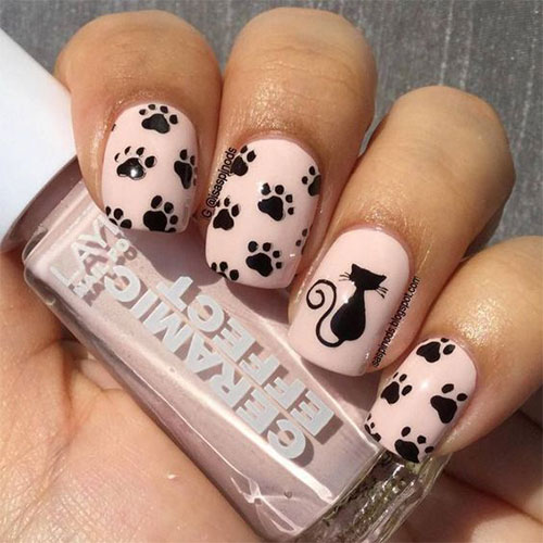 Cute-Easy-Halloween-Nail-Art-For-Kids-2020-7