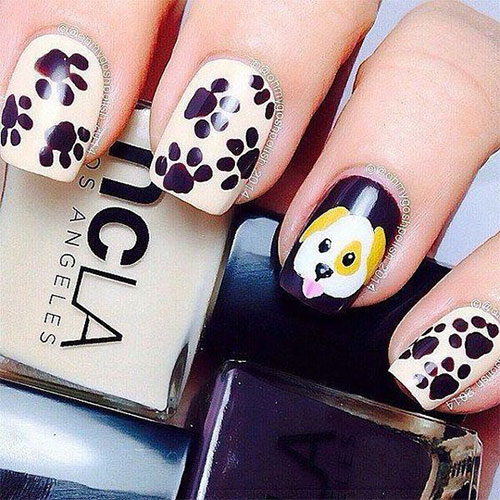 Cute-Easy-Halloween-Nail-Art-For-Kids-2020-8