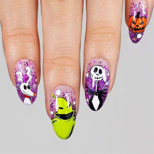 Disney-Halloween-Nail-Art-Designs-2020-10