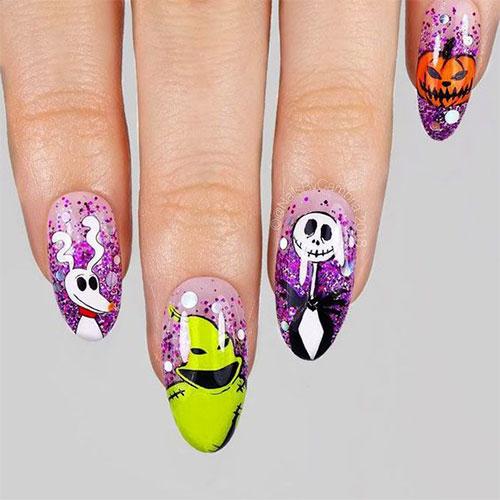 Disney-Halloween-Nail-Art-Designs-2020-10