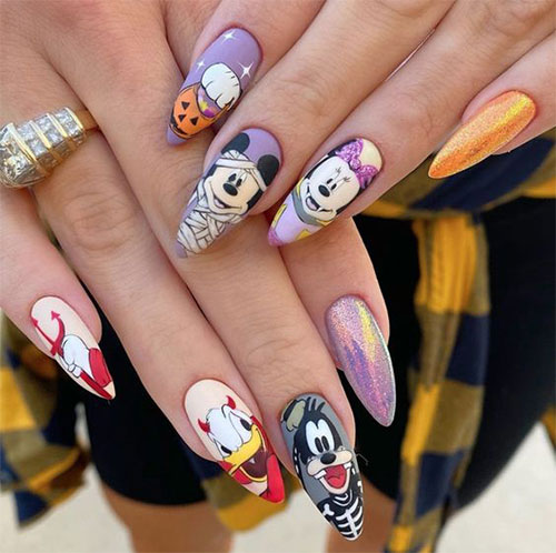 Disney-Halloween-Nail-Art-Designs-2020-12