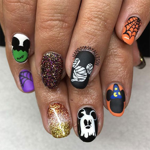 Disney-Halloween-Nail-Art-Designs-2020-13