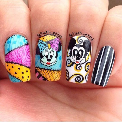 Disney-Halloween-Nail-Art-Designs-2020-3