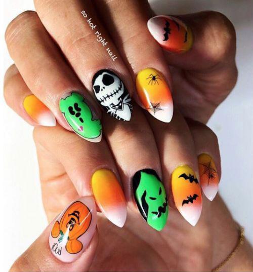 Halloween-Candy-Corn-Nail-Art-Designs-2020-13