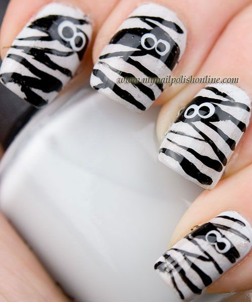 Halloween-Mummy-Nails-Art-Designs-2020-1