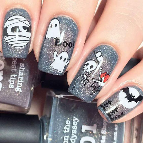 Halloween-Mummy-Nails-Art-Designs-2020-10
