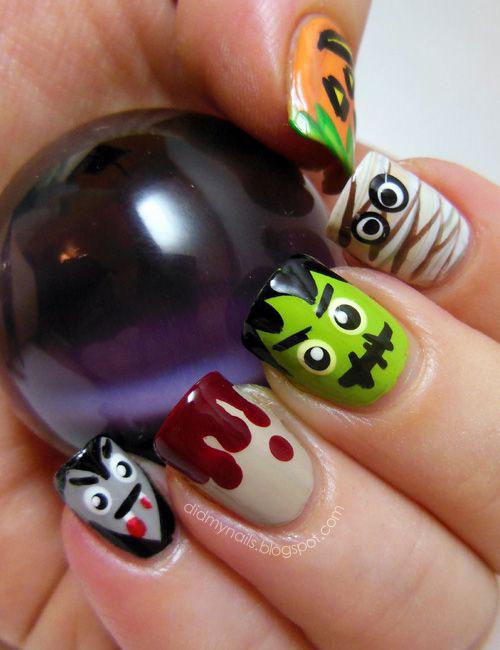 Halloween-Mummy-Nails-Art-Designs-2020-12