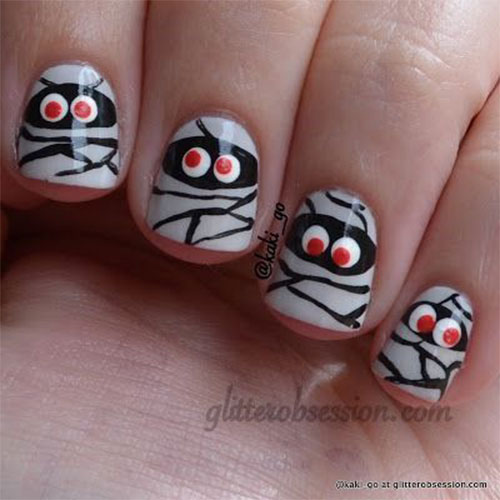 Halloween-Mummy-Nails-Art-Designs-2020-9