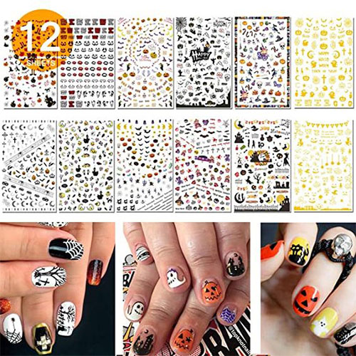 Halloween-Nails-Art-Stickers-Decals-2020-5