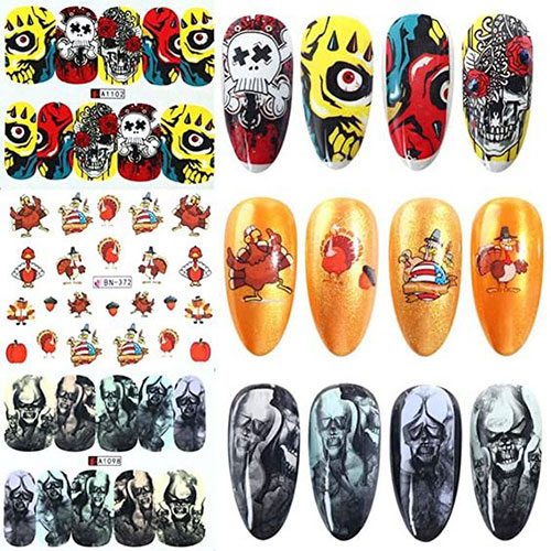Halloween-Nails-Art-Stickers-Decals-2020-7